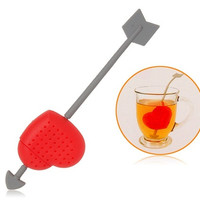 Cupid¡¯s Arrow Silicone Tea Holder and Infuser (Red)