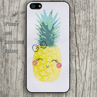 Pineapple cartoon bow iphone 6 6 plus iPhone 5 5S 5C case Samsung S3,S4,S5 case Ipod Silicone plastic Phone cover Waterproof
