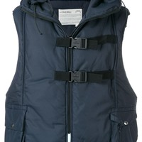 Navy Padded Hood Vest by A-COLD-WALL*