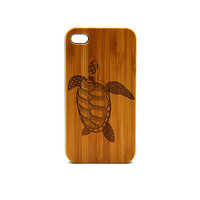 Real Wood iPhone 5s Case, Sea Turtle  iPhone 5s Case, eyes iPhone 5s Case, Wood iPhone Case,