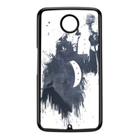 Wolf Song 3 Black Hard Plastic Case for Google Nexus 6 by Balazs Solti