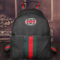 Gucci Women Leather Bookbag Backpack Handbag