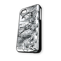 Alice In Wonderland Sketsa iPhone 4/4S Case