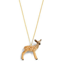Critters Never Win Necklace In Fawn