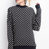 Brushed Hacci Polka Dot Sweater Top