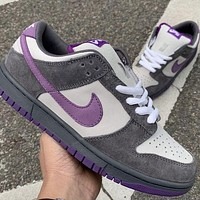 NIKE SB Dunk Low High colorblock low-top men's and women's sneakers Shoes Purple