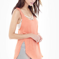 Coral One Eleven Racerback Tunic Tank from EXPRESS