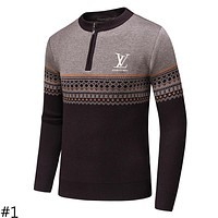 LV 2018 autumn and winter new men's tide brand knitted embroidery sweater #1