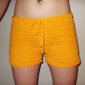 Crochet Shorts - Women Crochet Boy Shorts  - Size XS, S, M - Fashion Color 2013 - Spring - Summer - Easter - Gift for Her