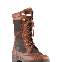 Ladies Chunky Leather Boot   Hiking Style Boot   Hunter Boots