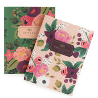 Vintage Blossoms Everyday Notebook Sets | Set of two with gold accents | RIFLE PAPER Co. | Made in USA