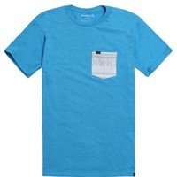 Hurley One & Only Tribe Pocket T-Shirt - Mens Tee - Blue