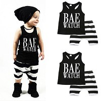 Kids Tops + Shorts Striped Clothes Outfits