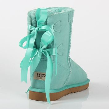 UGG 2018 autumn and winter new bow female models non-slip warm and thick snow boots shoes
