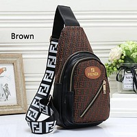 Fendi Woman Men Fashion Leather Chest Bag Crossbody Shoulder Bag