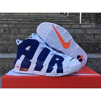 Nike Air More Uptempo GS White Royal Blue Size 36-40
