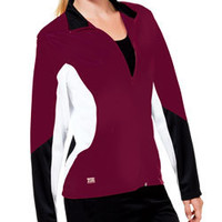 New Tri-Color Ultimate Poly Tricot Warm-Up Track Jacket by Zoe Athletics