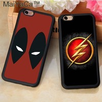 Deadpool Dead pool Taco MaiYaCa Marvel Avengers Superhero  Flash Phone Case Coque For iPhone 7 8 Plus 6 6S Plus 5S SE X Soft Rubber Fundas Cases AT_70_6