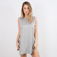 Side Action Tank Grey   Disruptive Youth