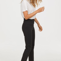 Slim-fit Pants - Black/pinstriped - Ladies | H&M US