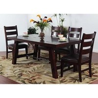 Sunny Designs Vineyard Dining Table with Turn Buckle In Rustic Mahogany