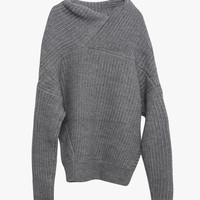 Gray Cover Up Knit Sweater