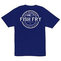 Fish Fry Men's T-Shirt in Navy by Guy Harvey
