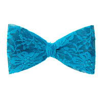 Turquoise Oversized Lace Bow Hair Clip