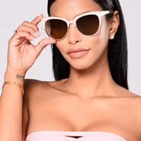 Julie Sunglasses - Clear/Pink