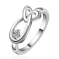 silver plated stamp heart drop water rings the lord of rings silver plated ring
