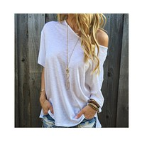 fhotwinter19 new style hot fashion sexy short sleeve top off shoulder