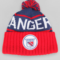 Mitchell & Ness New York 'Anger?' Rangers High-Five Pom Beanie - Urban Outfitters