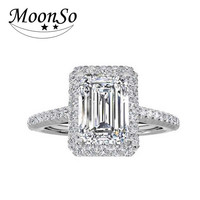 Moonso Trendy Cubic Zirconia Star Rings For Women