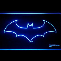 Batman Cool Logo Led Light Sign Blue Color = 1927929988