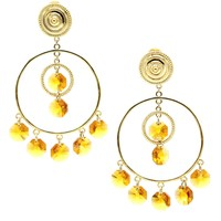 Starshine Chandelier Clip Earrings