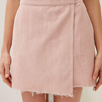 BDG Raw-Edge Corduroy Mini Wrap Skirt | Urban Outfitters