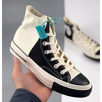 Converse 1970S Oreo color contrast neutral black and white stitching couple high-top casual shoes