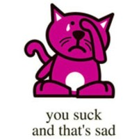 you suck and thats sad CAT New T Shirt Funny Cute PLUS SIZES XL 2X 3X | FloozeesDoozees - Clothing on ArtFire