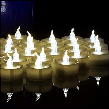Flickering Tea Lights LED Candles-100 pcs