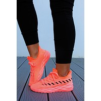 In The Lead Sneakers: Neon Coral/Black