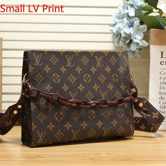 Image of Louis Vuitton LV Women Fashion Two-Sided Print Leather Tote Crossbody Shoulder Bag Satchel