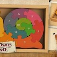 Wooden Numbers Snail Puzzle