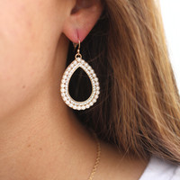 Ivory Tear Drop Earrings