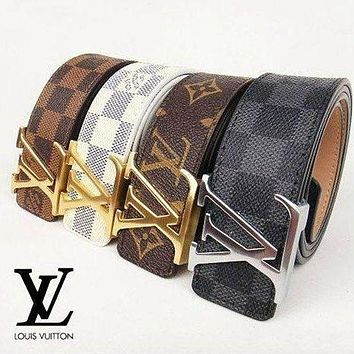 LV Louis Vuitton Ceinture LV Monogram Leather Belt