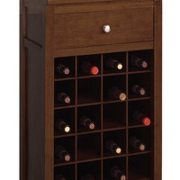 Modern Piece of Modular Wine Cabinet by Winsome Woods