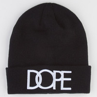Dope Cuff Beanie Black One Size For Men 22560510001