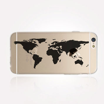 Transparent World Map iPhone Case - Transparent Case - Clear Case - Transparent iPhone 6 - Transparent iPhone 5 - Transparent iPhone 4