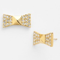 kate spade new york 'locked in' pave bow stud earring