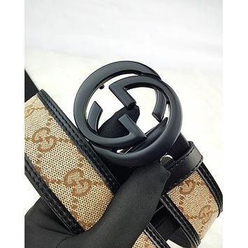 GUCCI fashion hot seller men's and women's casual matching color print belt #1