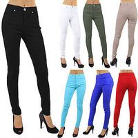 New Sexy Stretch Skinny High Waist Real Pockets Jeggings Pants Size S M L RF6304